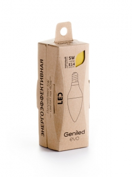 Светодиодная лампа Geniled EVO Е14 С37 5W 2700K