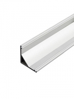 Угловой профиль для светодиодной ленты шириной до 16 мм анод серебро